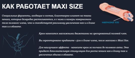 Действие препарата Maxi Size