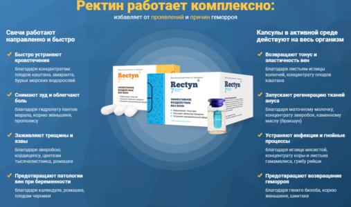 Действие препарате Ректин