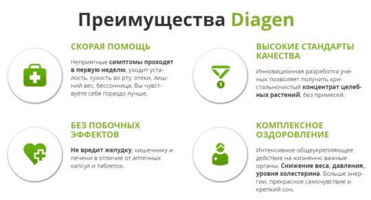 Преимущества препарата Diagen
