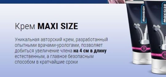 Информация о препарате Maxi Size