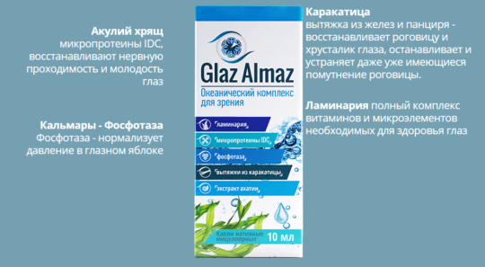 Состав препарата Glaz Almaz