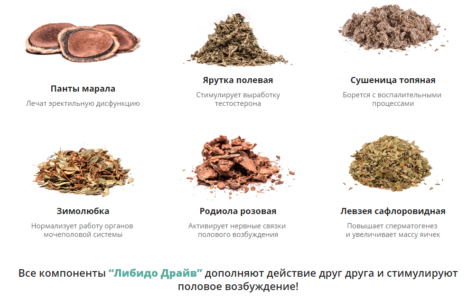 Состав препарата Либидо Драйв