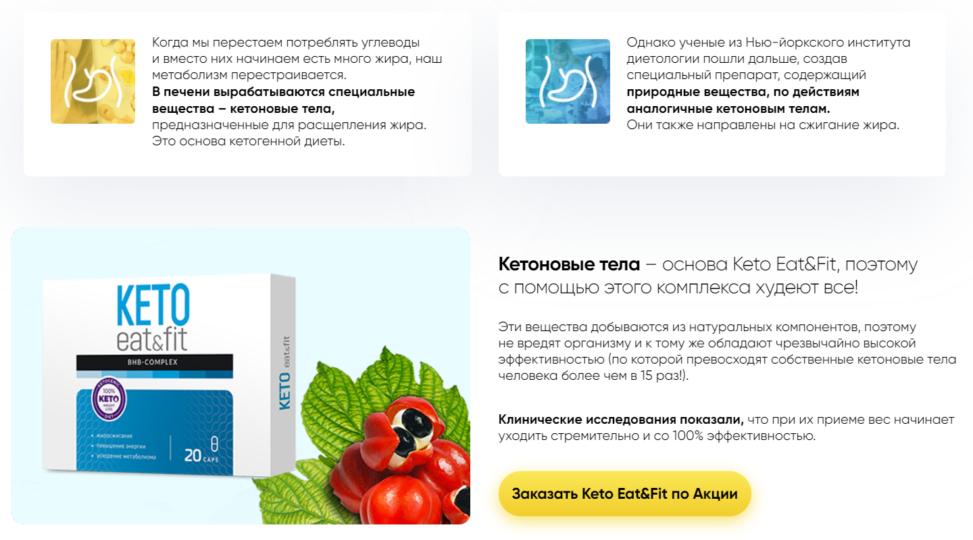 Кетановые тела - основа Keto Eat Fit