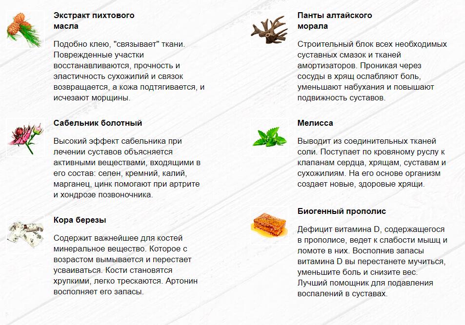 Состав Артронина