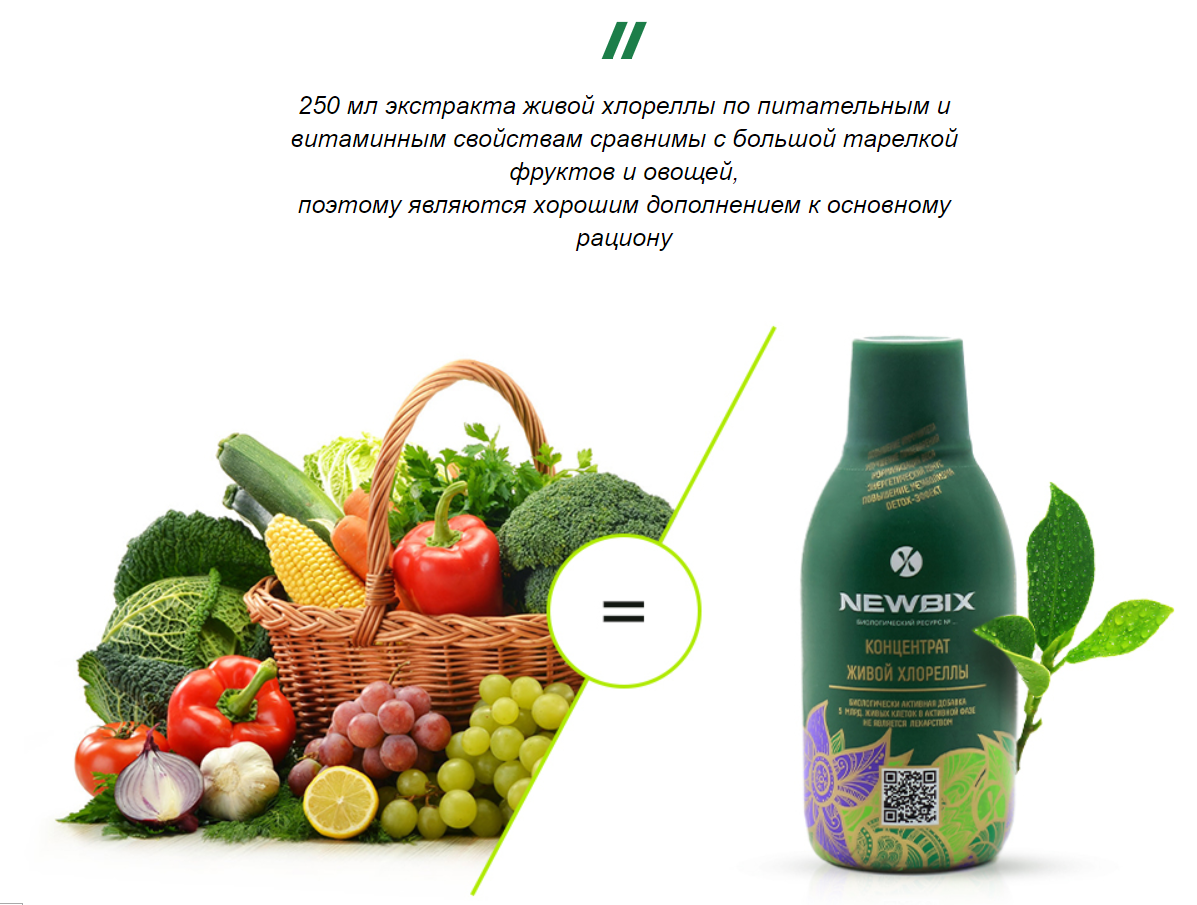 Питательные свойства newbix